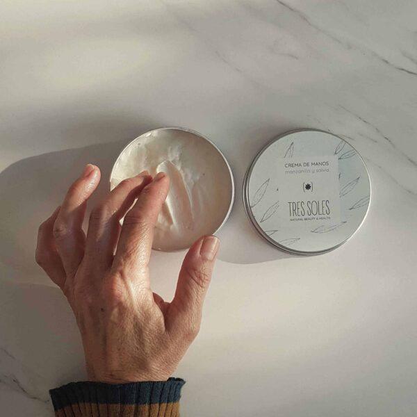 Crema de manos manzanilla y salvia